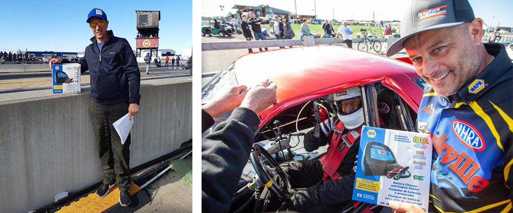 Les voitures les plus rapides: Joel Lapierre (Dragster) et Michel Bastien (Door Car)